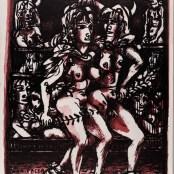 53. Tono Zancanaro, Non facea nascendo ancora paura, litografia, mm764x575, 1966