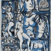 60. Tono Zancanaro, L'aiuola che ci fa tanto feroci, litografia, mm700x500, 1966