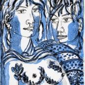 66. Tono Zancanaro, Il buon Apollo, litografia, mm272x196, 1966