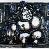 71. Tono Zancanaro, Raab la gran meretrice, litografia, mm600x800, 1966
