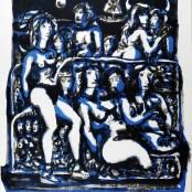 83. Tono Zancanaro, Non facea nascendo ancor paura, litografia, mm700x500, 1967