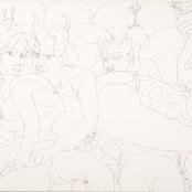 9. Tono Zancanaro, Taide la puttana e la zozzona, china a tratto, mm281x350, 1964