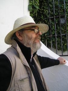 """Juan Leyva Palma en el año 2009, visitando el Museo Etnográfico """"González Santana"""" de Olivenza"""