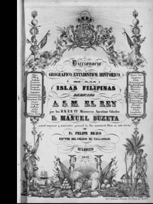 Cover page of Diccionario, Geografico, Estadistico, Historico de las Islas Philipinas