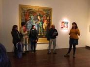 2° del profesorado y 2° de la diplomatura de artes visuales de la Escuela Figueroa Alcorta profesora Alicia Rodriguez y profesor Paulo Ahumada Rovai