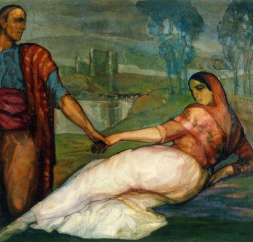 Los novios de Vozmediano. ID 003. Corpus Online Museo Gustavo de Maeztu