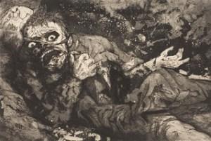 otto dix Herido (otoño 1916, Bapaume) 1924 allemagne