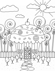 coloring candy halloween printable
