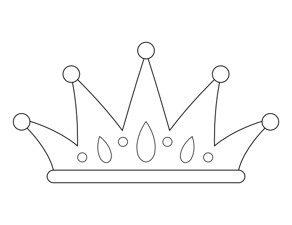 Printable Crown Coloring Page