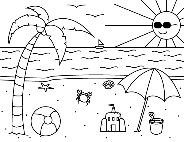 Printable Summer Coloring Page
