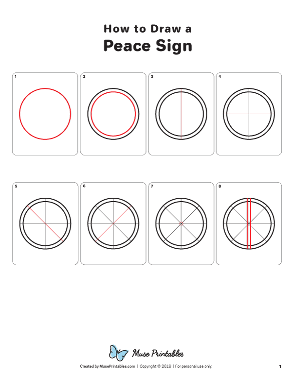 How To Draw A Peace Sign : peace, Peace
