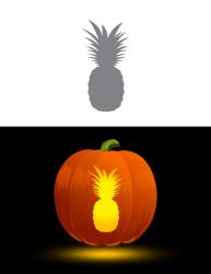 pineapple pumpkin stencil stencils printable