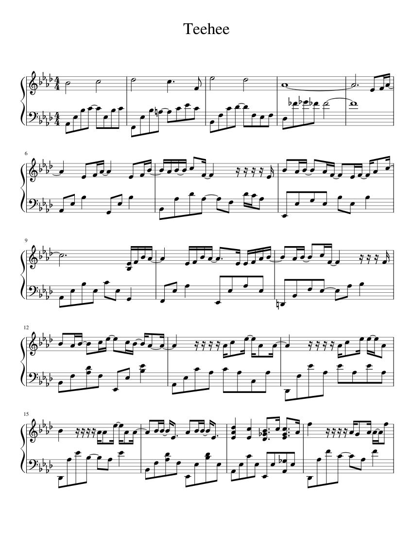 Jay Chou Waiting For You : waiting, Waiting, Sheet, Music, Piano, (Solo), Musescore.com