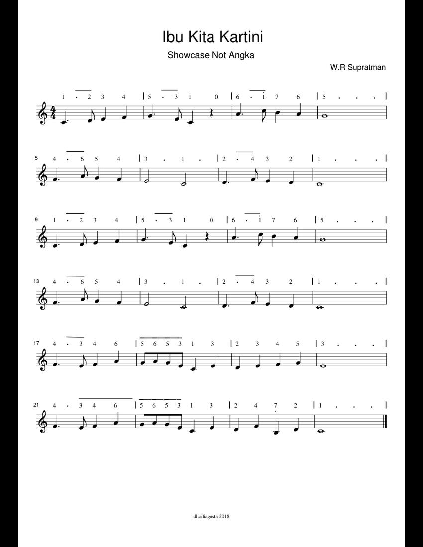 Not Angka Lagu Ibu Kita Kartini Paling Lengkap & Mudah Dipelajari