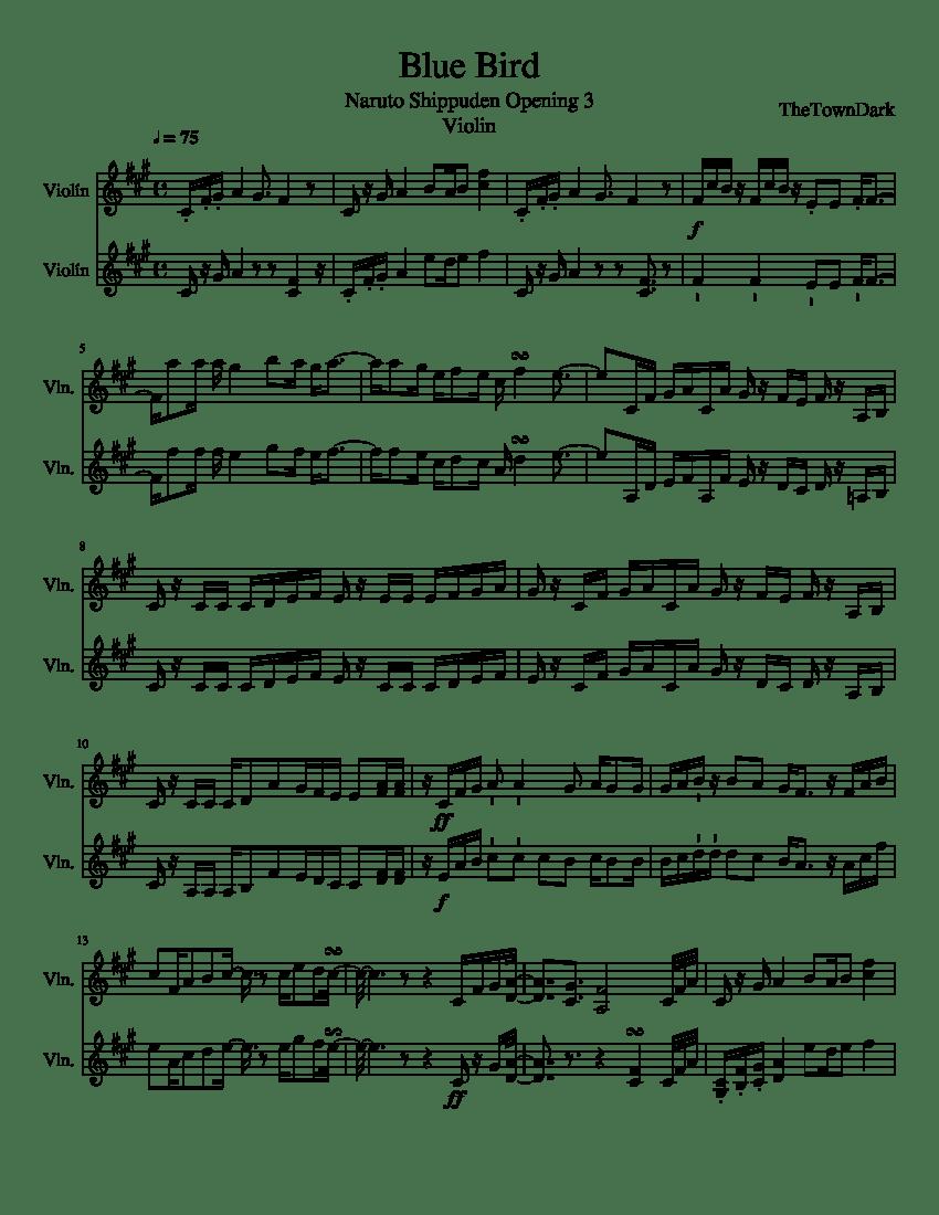 Blue Bird Violin Sheet Music : violin, sheet, music, (Violin), Sheet, Music, Violin, (String, Duet), Musescore.com