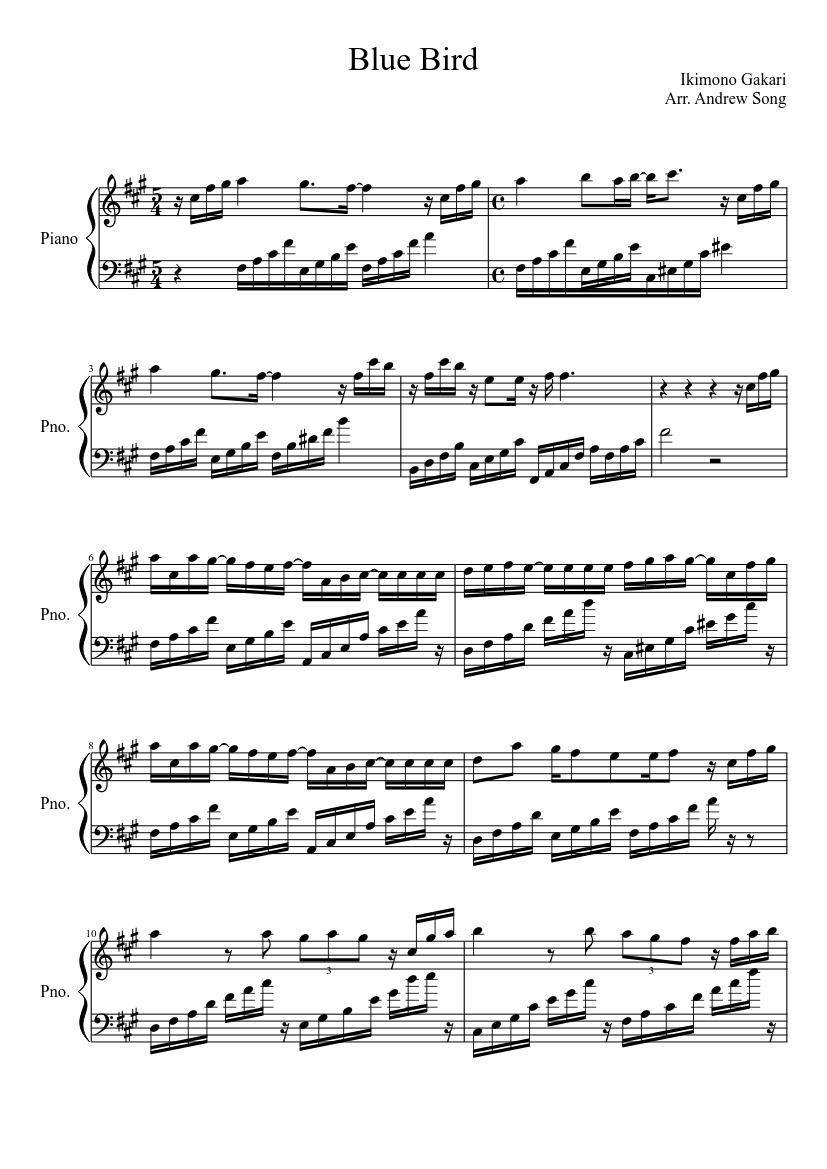 Blue Bird Violin Sheet Music : violin, sheet, music, Sheet, Music, Piano, (Solo), Musescore.com