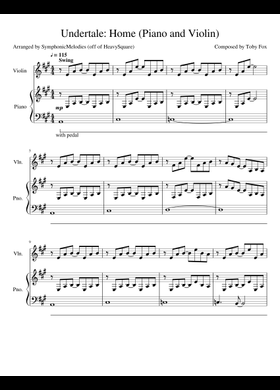 Undertale Home Sheet Music : undertale, sheet, music, Sheet, Music, Musescore.com