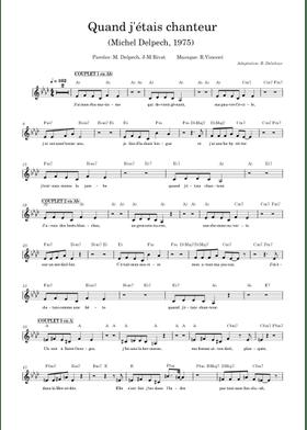 Quand J'étais Chanteur Michel Delpech : quand, j'étais, chanteur, michel, delpech, Quand, J'étais, Chanteur, Michel, Delpech, Sheet, Music, Vibraphone, (Solo), Musescore.com