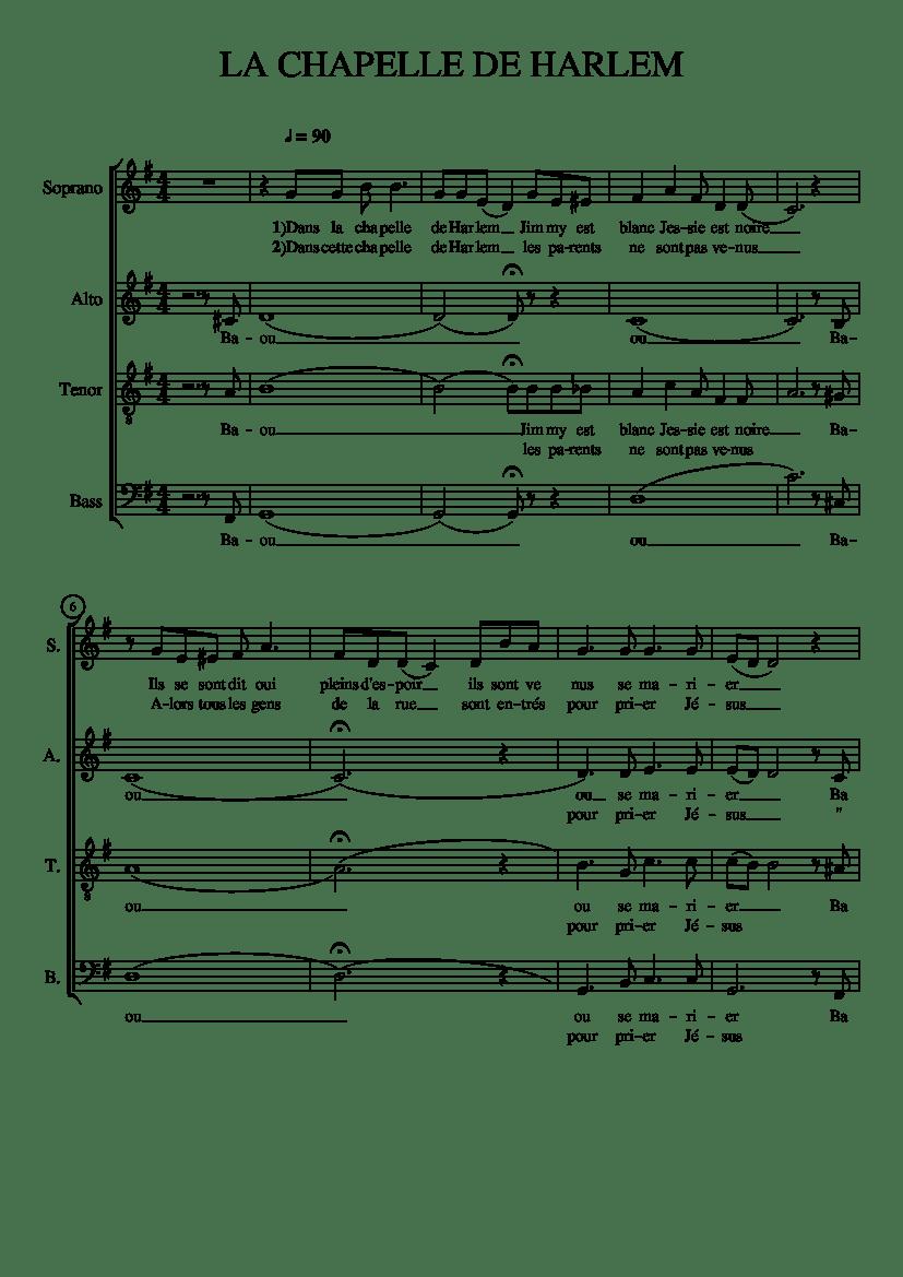 Dans La Chapelle De Harlem : chapelle, harlem, CHAPELLE, HARLEM, Sheet, Music, (Solo), Musescore.com
