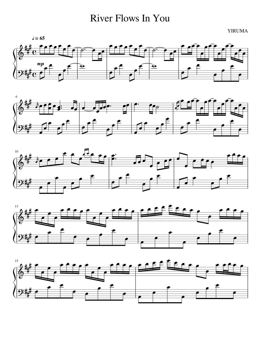 Yiruma - River Flows In You : yiruma, river, flows, River, Flows, Sheet, Music, Piano, (Solo), Musescore.com