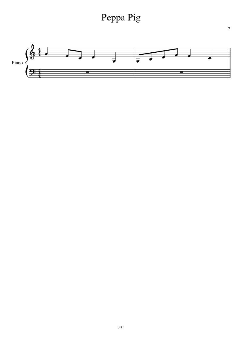 Peppa Pig Flute Notes : peppa, flute, notes, Peppa, Theme, Sheet, Music, Piano, (Solo), Musescore.com