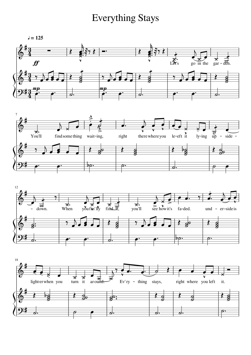 Everything Stays Sheet Music : everything, stays, sheet, music, EveryThing, Stays, Adventure, Sheet, Music, Piano,, Flute,, Group,, Vocals, Instruments, (Mixed, Ensemble), Musescore.com