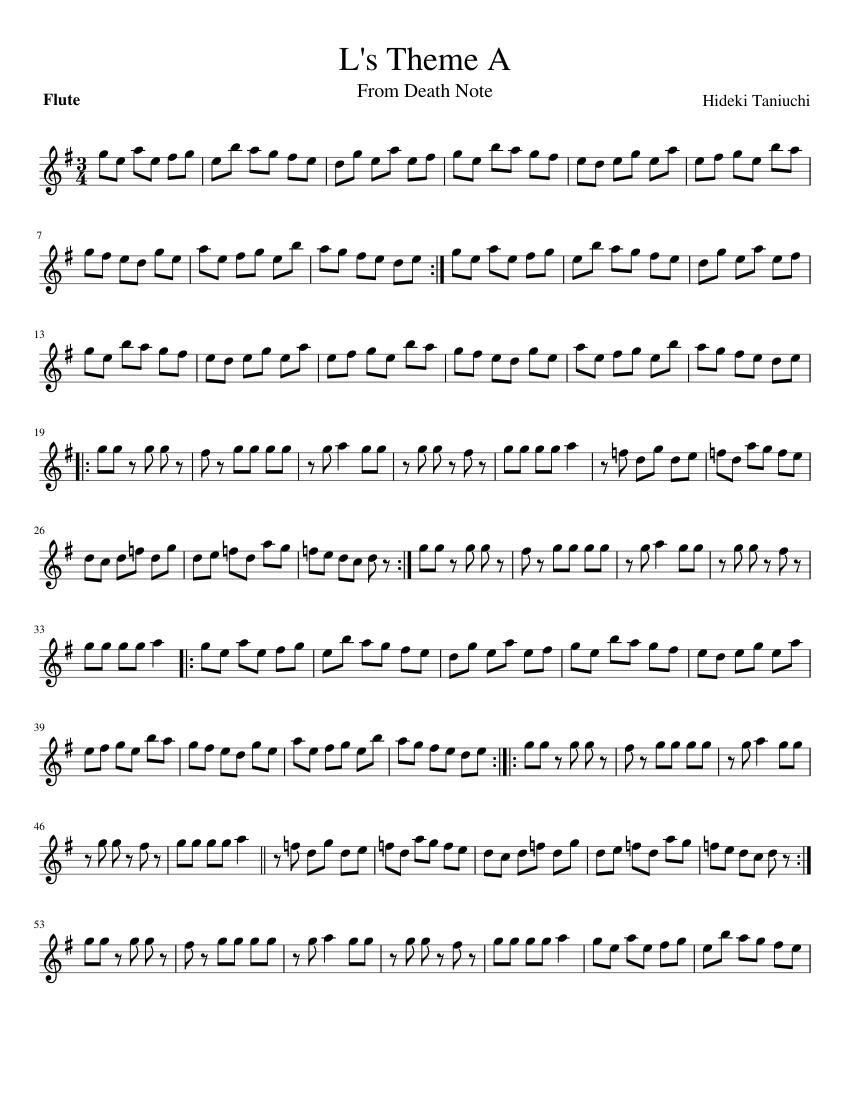 L's Theme Sheet Music : theme, sheet, music, Theme, Sheet, Music, Flute, (Solo), Musescore.com