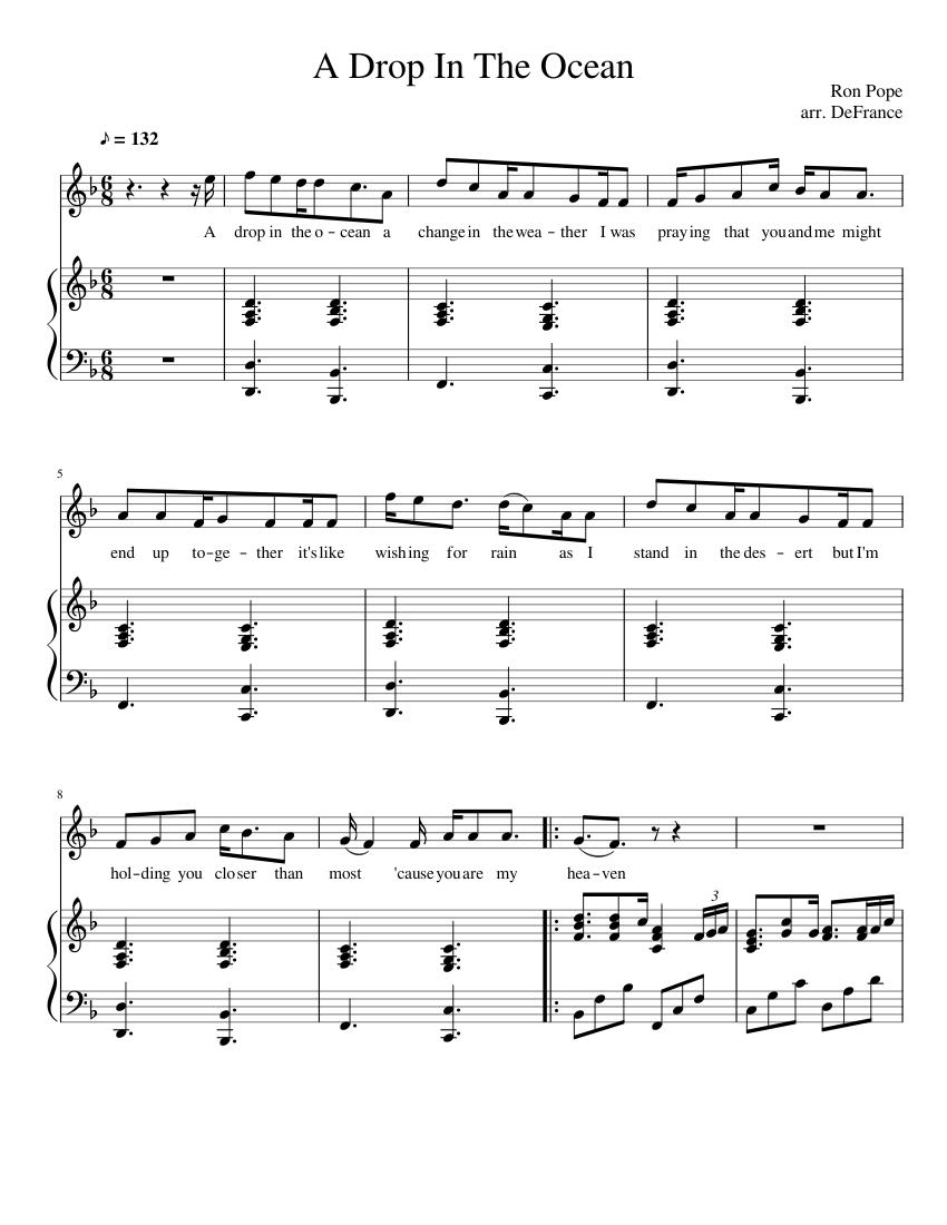 A Drop In The Ocean Piano Chords : ocean, piano, chords, Download, Ocean, Violin, Sheet, Music, Background