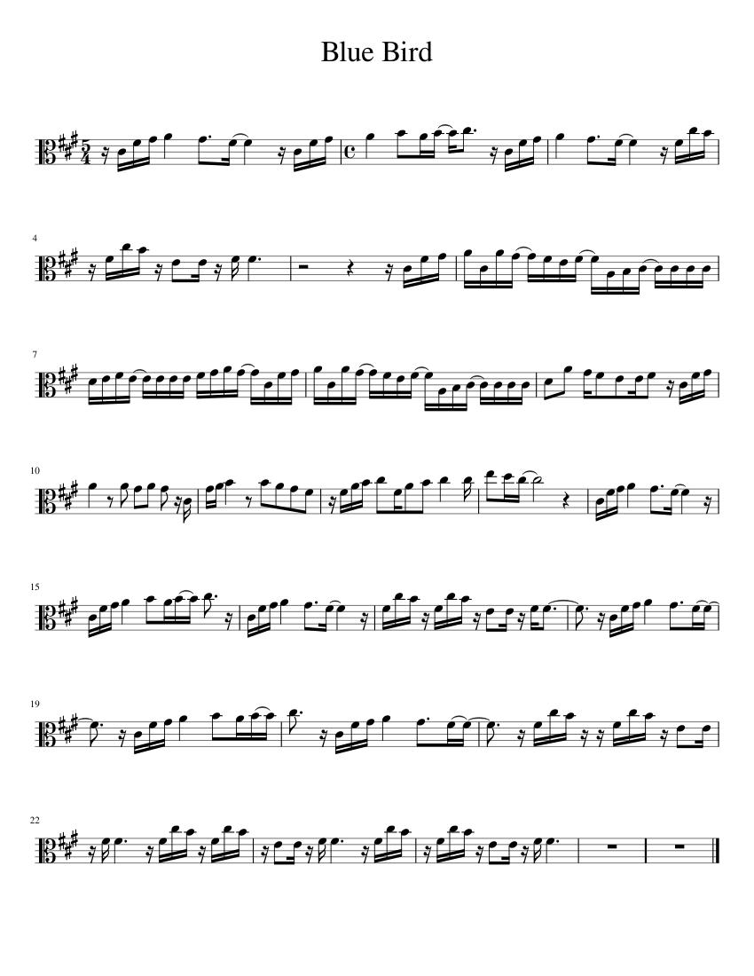 Blue Bird Violin Sheet Music : violin, sheet, music, Viola, Sheet, Music, (Solo), Musescore.com