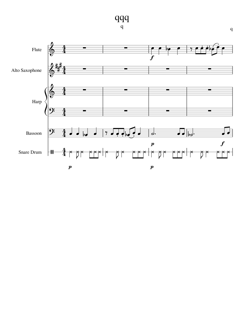 qqq sheet music composed by q 1 of 5 pages [ 850 x 1100 Pixel ]