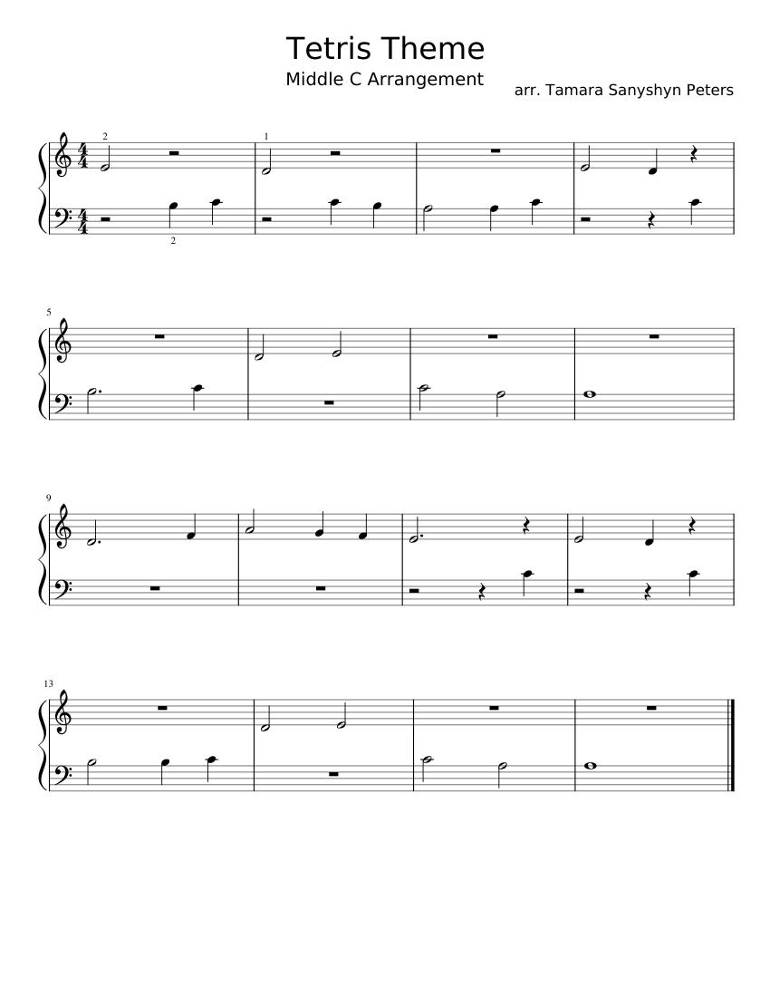 Tetris Theme Sheet music for Piano (Solo) | Musescore.com