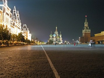 Red Square, Moscow. I've been here lots of times, but it still impresses me. That's not to say the rest of Moscow does. There's a constant sense of being close to trouble. And usually you are: I once arranged for a cab to collect me from a viewing facility late at night. A cab was outside and they said, yes, they were there to collect me. They weren't. The correct driver saw what was happening and approached. The opportunist dealt with matters by locking me in his cab whilst getting out to argue with the driver I had booked. They shouted at each other and pushed each other about a bit while I scrambled out of the cab window and made my escape. What a ridiculous state of affairs. Some of the restaurants are great though. And it's much better than Ukraine.
