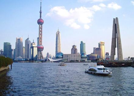 Shanghai Harbour. A place of international contrasts.