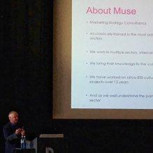 Berlin, a conference presentation.