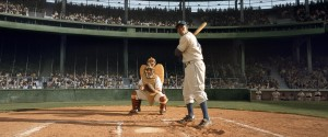 """CHADWICK BOSEMAN as Jackie Robinson in Warner Bros. Pictures' and Legendary Pictures' drama """"42"""""""