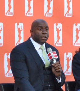 Los Angeles Sparks Owner Magic Johnson
