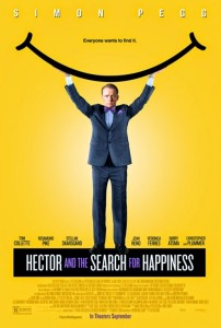 hector and the search for happiness yellowish-poster