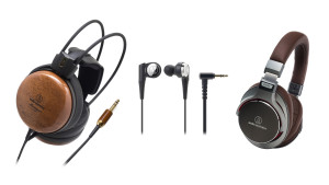 ATH-W1000Z over-ear, SonicPro® ATH-CKR10 in-ear and SonicPro ATH-MSR7 over-ear headphones (available in black ATH-MSR7BK and in gun metal ATH-MSR7GM).