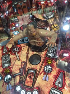 A zombie from the Walking Dead finds itself on the game board.
