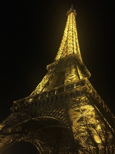 Eiffel Tower during the night