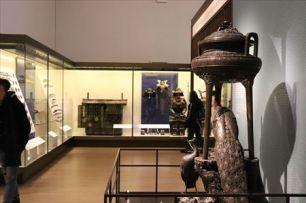ケース展示が主でしたが、一部、露出展示もあります