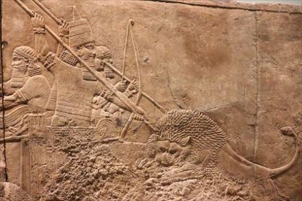 アッシリアのライオン狩りのレリーフ