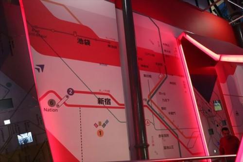 入り口にはなぜか東京の地下鉄マップが!?