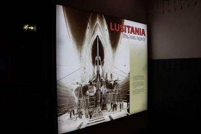 ルシタニア号の展示コーナー