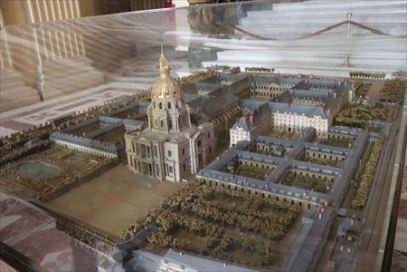 アンバリッドの全景模型
