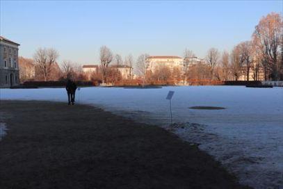 雪!さすが冬のオリンピックが開かれるトリノ