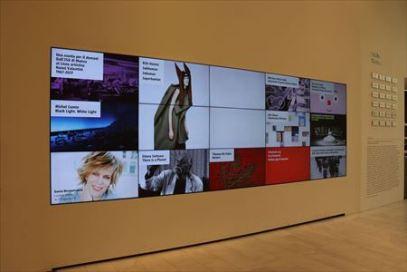 当日行われている企画展などがデジタル・サイネージで紹介されています
