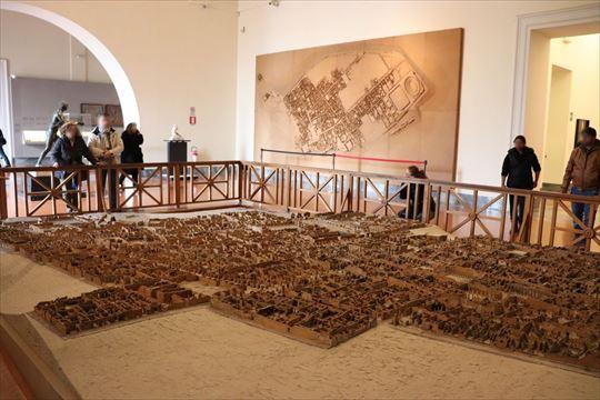 ポンペイ遺跡の全体模型