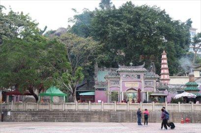 バラ広場から見た媽閣廟