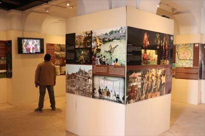 ガンジス川に関する展示